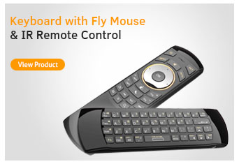 Keyboard with Fly Mouse & IR Remote Control