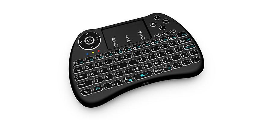 mini wireless touchpad and backlit keyboard h9 zoweetek. Black Bedroom Furniture Sets. Home Design Ideas