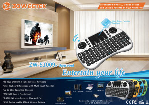 wirelesss keyboard with touchpad