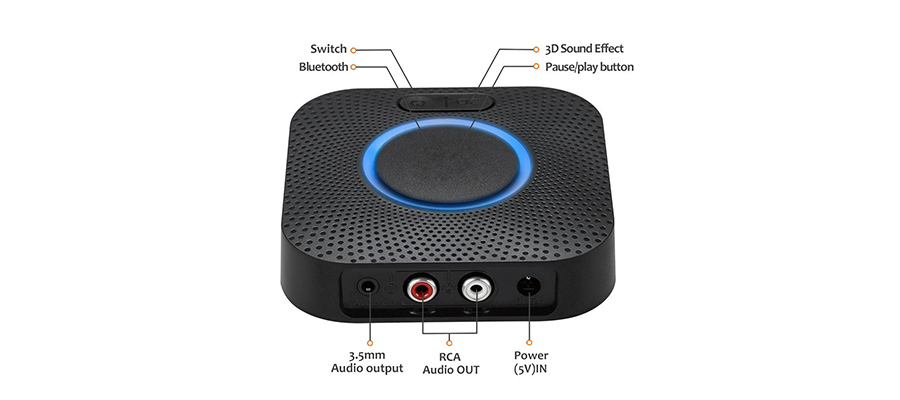 Bluetooth 5 0 Audio Receiver with APTX, APTX LL   Zoweetek